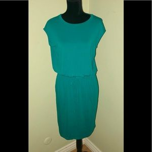 NEW BANANA REPUBLIC Turquoise Dress-Size Small